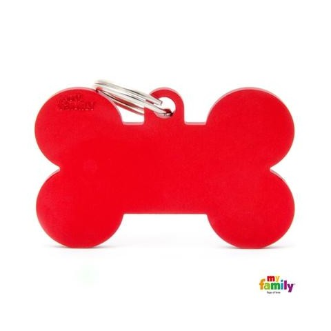 MÉDAILLE COLLECTION BASIC OS GRAND ALUMINIUM ROUGE